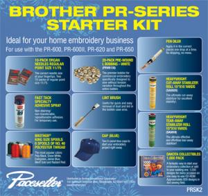 Brother PRSK2 Starter Kit, PR600-PR1000E, Babylock Embroidery Machinesnohtin