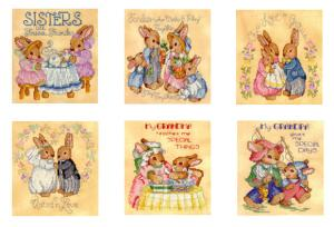 Sudberry House D3000 Bunny Family Digitized Machine Cross Stitch Designs