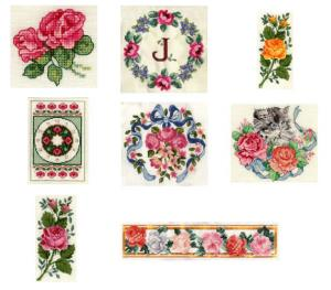 Sudberry House D3100 Rose Collection Digitized Machine Cross Stitch Designs