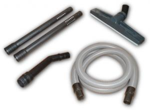 "Koblenz AI SERIES WET DRY ACCESSORY KIT INCLUDES 10' 1 1/2"" HOSE, 2 PLASTIC WANDS AND PLASTIC SQUEEGEE FLOOR TOOL."