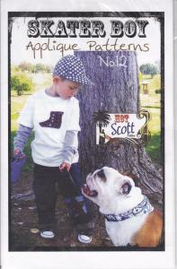 Hot Scott Patterns Skater Boy Applique Pattern