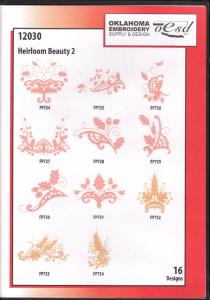 OESD 12030 Heirloom Beauty 2 Embroidery CD Design Pack