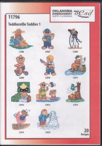 OESD 11796 Teddiesville Teddies 1 Embroidery CD Design Pack
