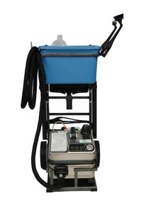 "Euro Steam, ES4500S, Dry Vapor, 6% H2O  Variable, Steam Cleaner, 12"" inch wide, 185-316° degrees, 1600W, 13.5A, 4.5 Bar, 68 PSI, 4 Liters, 12' foot Hose, 14' foot Cord, SILVER Package, Cart, Bucket, 12 Towels, ITALY"