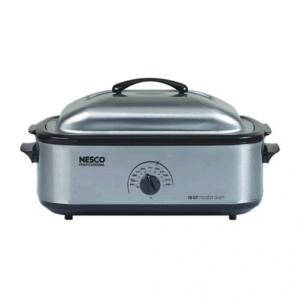 Nesco 4818-25PR 18 Qt. Professional - SS- Porcelain Cookwell Roaster Oven