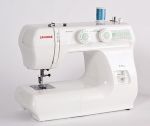 Janome 2212, 12 Stitch, Basic, Mechanical, Full Size, Freearm, Sewing Machine, Buttonhole, Reverse, Metal Bobbin Case, Oscillating Hook, SnapOn Feet, Janome 2212 3YrExtWarranty* 12/39Stitch Mechanical Freearm Sewing Machine, Buttonhole, 4mmS.L. 5mmZZ MetalBobbinCase 3Feet DropFeed 13Lb 860SPM (H5812