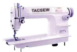 Tacsew T 8700 High Speed Auto Oil Lockstitch Industrial Sewing Machine with K121H K leg Stand, T1074 Table Top, 1/2 H.P. &  Motor, 3450 RPM
