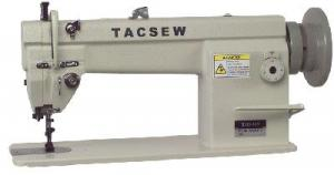 Tacsew T111-155 Walking Foot Needle Feed Upholstery Sewing Machine, Big Bobbin, Auto Oil, 3/4HP DC Servo Power Stand,1600SPM, Replaces Singer 111W155