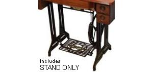 AlphaSew, Treadle Machine, Cast Iron, Metal Stand, with Pedal Only, Requires Optional, Cabinet Top, HA1-T, and Sewing Machine to Operate
