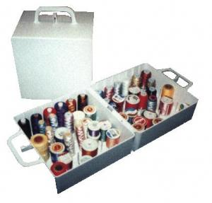Madeira Thread Box for 72 Spool Madeira-size Clear Storage/Carrying Case