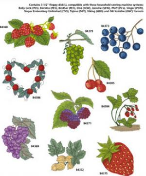 Amazing Designs / Great Notions 1263 Fruit I Multi-Formatted CD