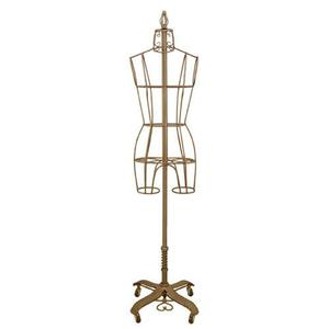 PGM Pro, 901A, Antique, Metal Wire, Dress Form, Display, Mannequin, Wheel, Base,  Adjustable Height, Foot Pedal, Size 2, 4, 6, 8