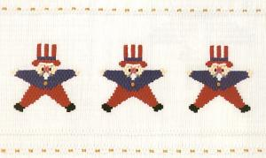 Little Memories Stars n Stripes LM125 Smocking Plate