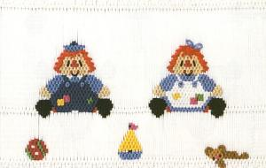 Little Memories Raggedy Friends LM114 Smocking Plate