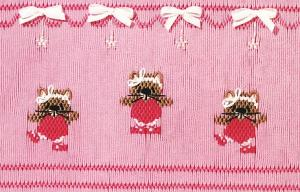 Little Memories Purr-fect Pirouettes LM62 Smocking Plate