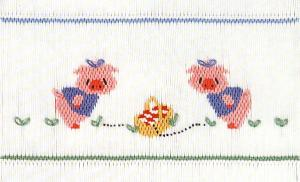 Little Memories Piggy Sue LM45 Smocking Plate