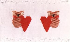 Little Memories Koala's n Hearts LM05 Smocking Plate
