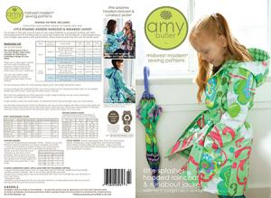 Amy Butler Designs 934271 Little Splashes Hooded Raincoat & Jacket Pattern Sizes: 3-14