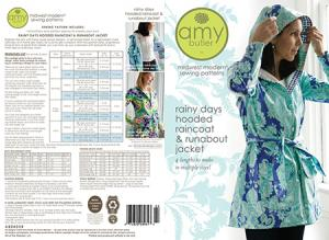 Amy Butler's 934272 Rainy Days Hooded Raincoat & Runabout Jacket Pattern XS-3XL