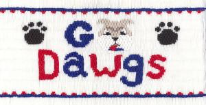 Cross-eyed Cricket CEC227 Go DAWGS Smocking Plate Design, Colors