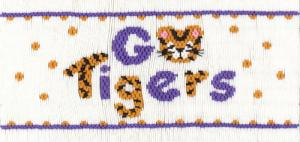 Cross-Eyed Cricket CEC225 Go Tigers Color Smocking Plate for DMC Floss