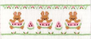Cross-eyed Cricket  CEC217 Watermelon Wabbits Smocking Plate