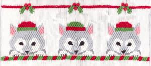 Cross-eyed Cricket  CEC197 Winter Huskies Smocking Plate