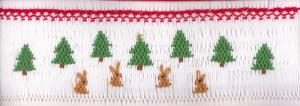 Cross-eyed Cricket  CEC181 Winter Wonderland Smocking Plate