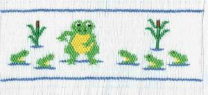 Cross-eyed Cricket  CEC120 Tadpole Lessons Smocking Plate