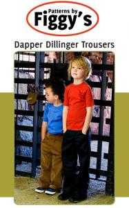 Figgy's Dapper Dillinger Trousers Pattern Size 12m-6/7yrs