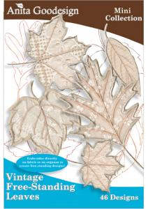 Anita Goodesign 77MAGHD Vintage Free- Standing Leaves Mini Collection Embroidery Design Pack on CD