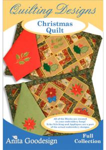 Anita Goodesign 145AGHD Christmas Quilt Full Collection Multi-format Embroidery Design Pack on CD