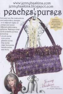 Jenny Haskins Peaches Purses Multi-Formatted CD Plus Floriani Tearaway Magic fusible and Tearaway