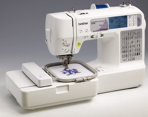 "Brother SE400 67-Stitch Sewing 4x4"" 70-Designs Embroidery Machine USB, Fonts, 120 Borders, Start Stop, Needle Up, Threader, Trim +7 Extras $40 Values*"