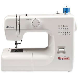American Home AH600 Believe Sewing 6/19 Stitch Function Freearm Mechanical Sewing Machine, Buttonhole, All Metal Casting, Bobbin Case & Shuttle Hook