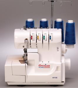 American Home AH100 432 Thread Freearm Overlock Serger, Differential Feed, Easy Color Code Thread +3 Feet (Babylock Lauren BL450A, Nancy EZ Lock SWN10