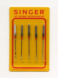 Singer 200014BZ05 5Pk Embroidery Machine Needles 2 Size 11 and 3 Size 14 Chrome Coated