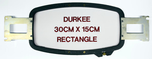 "Durkee PR3015 30x15cm (12x 6"") Rectangle Embroidery Frame Hoop & Bracket for Brother PR600 PR620 PR650, BabyLock EMP6 BMP8 BMP9 ENT10 Machines"