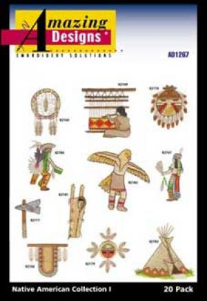 Amazing Designs/Great Notions 1267 Native American I Embroidery Multi-Formatted CD