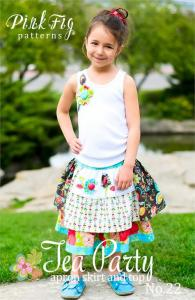 Pink Fig PFTEA Tea Party Party Skirt & Top Pattern 12m-10yrs