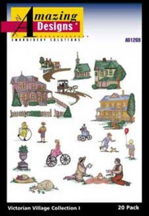 Amazing Designs 1269 Victorian Village I Embroidery Disk