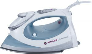 Singer Perfect Finish Iron PF.01 Vertical Burst Steam, 1700W, 4Temp Settings LCD, Fabric Guide, Cool Spray Mist, Anti Calc, Anti Drip, Auto Off, 3Lb*