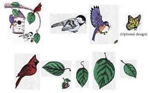 Amazing Designs ES104 Embroideryscapes Birdscape Embroidery Disks