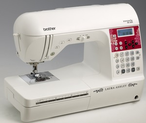 Brother, NX800, NX-800, 138, Stitch, Laura, Ashley, Limited, Edition,Sewing, Machine, NX800, 3, Alphabets, 10, Buttonholes, LCD Display, 850 SPM, Top Drop-In Bobbin