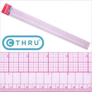 """PGM Pro 807A 24""""/60cm C-Thru Ruler"""
