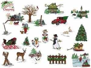 Amazing Designs BMC NZ3 Memories of Christmas Brother Embroidery Card