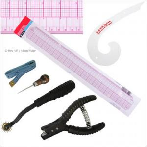 "PGM Pro 807B-C 18""/48cm C-Thru Ruler with Pattern Design Tool Set"