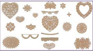 Amazing Designs BMC NZ8 Lace Vignette Brother Embroidery Card