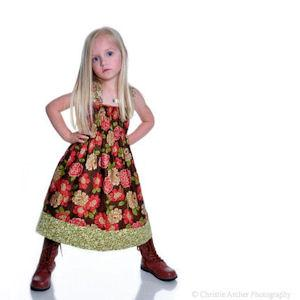 Juvie Moon Ellie  Halter Style Dress Pattern
