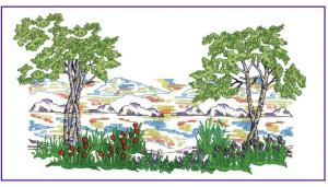 Amazing Designs BMC NZ9 Four Seasons Landscape Brother Embroidery Card